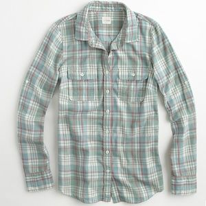 "J Crew ""The Perfect Shirt"" In Plaid"